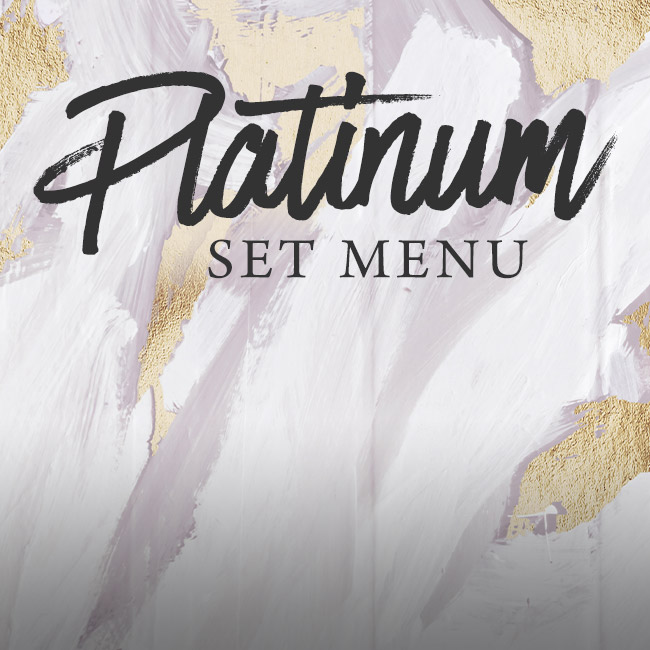 Platinum set menu at The Green Man