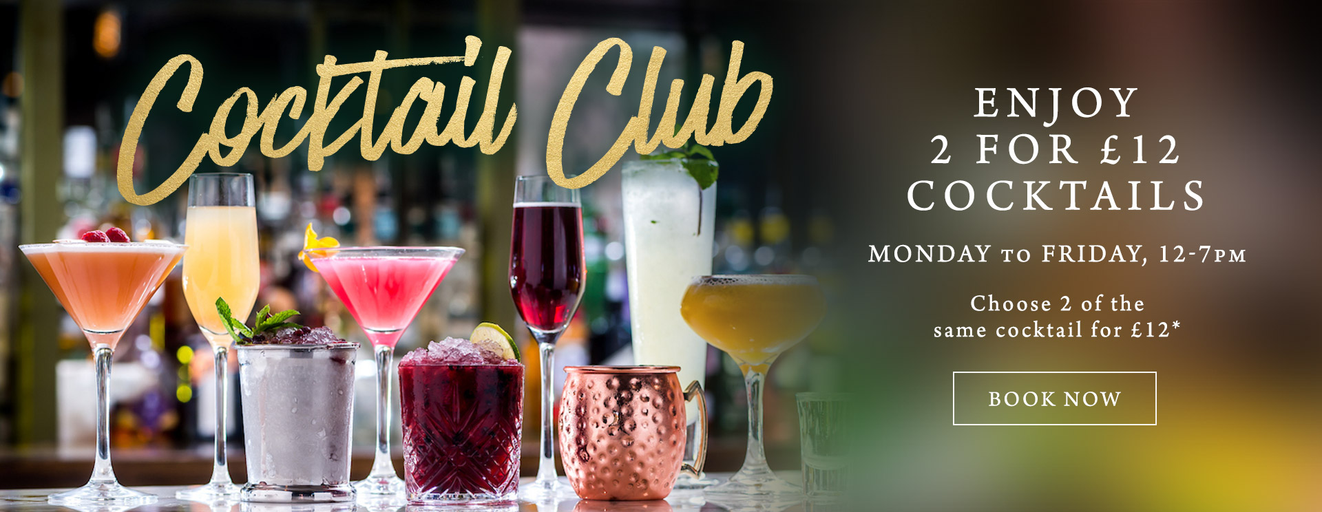 2 for £12 cocktails at The Green Man